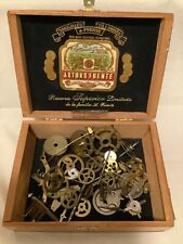 45 Clock Movement Gears Vintage Parts Steampunk Brass Crafts Sessions Cigar Box