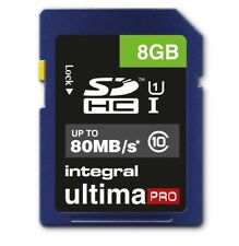 8GB Integral Ultima Pro SDHC 80MB/sec CL10 UHS-I Memory Card