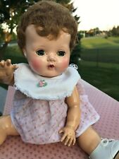 """New listing Vtg 14"""" American Character 1950s Tiny Tears Doll w/ Layette, Case & Extras"""