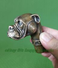 Antique Victorian Walking Stick with Bronze Dog Head Walking Stick handle wand