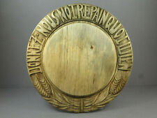 Antique Carved Wooden Bread Board Kitchenalia ~ Donnez Nous Notre Pain Quotidien
