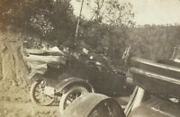 West Virginia Family Riding in Antique Open Top Jalopy Car Antique Photo