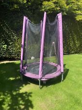 KIDS PLUM 4.5FT TRAMPOLINE PINK WITH NET ENCLOSURE OUTDOOR TOYS