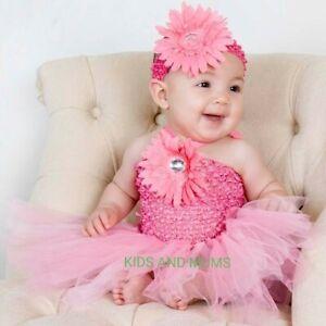 baby girls tutu dance dress 3-6-9-12-18 months,party dress+headband, UK SELLER