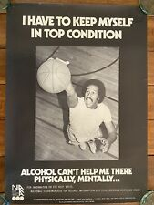 Vintage Government Alcohol Abuse Prevention Poster African American Athlete