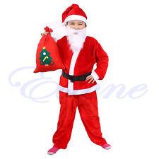 1Set Fancy Christmas Santa Claus Costume Children Suit Boy's Outfits Dress