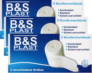 15 Stück Mullbinde Mullbinden Fixierbinden Verband Bandage elastisch 3 Größen