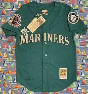 Mitchell & Ness 75th Commemorative Year Seattle Mariners Ken Griffey Jr Jersey