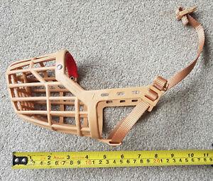 Baskerville Dog Muzzle. Plastic basket type. Size 7. Adjustable strap.