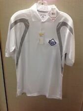 Men's Tampa Bay Rays Polo Shirt White/Gray size Small by Antiqua