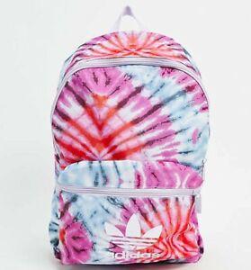 Adidas Originals Womens Tie Dye Backpack Gym Bag Sports PE School NEW