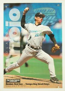 1998 Tampa Bay Devil Rays ROLANDO ARROJO  1st Ever All-Star Tropicana SGA Poster