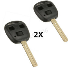 2x FOB REMOTE 3 BUTTON KEY SHELL CASES FOR LEXUS GX470 IS300 GS430 GS300 RX330