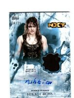 WWE Nikki Cross 2018 Topps Undisputed Blue Autograph Relic Card SN 24 of 25