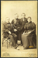 family portrait by CARPOSIO, Vintage Cabinet Card, 1890's Fiume