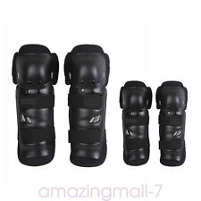 Elbow Knee Shin Armour Guard Pads Set for Motocross Motor Bike Bicycle 4pcs