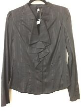 BNWT STUNNING GOTHIC RUFFLE GOVERNESS STEAMPUNK BLOUSE SIZE 12