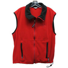 Pearl Izumi Men's Red Black Fleece Full Zip Cycling Vest Size Large