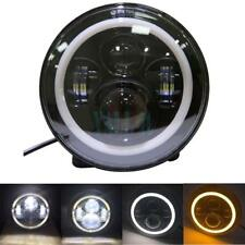 1Pcs 7Inch LED Projector Daymaker Headlight Halo Angle Eyes for Harley Davidson