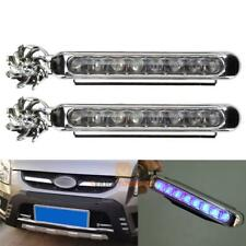 2pcs Wind Power 8 LED Car Daytime Running Light Bulb DRL Driving Day Fog Lamp