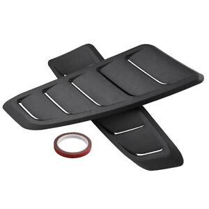 Plastic Car Front Hood Bonnet Vent Air Flow Intake Scoop Cover Side Fender Decor