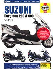 1998-2015 Suzuki Bergman 250 400 Scooter Repair Manual 2014 2013 2012 2011 2857