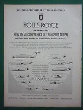 1960 PUB ROLLS-ROYCE MOTEURS AVIATION DE HAVILLAND GRUMMAN DOUGLAS VICKERS AD