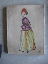 Original Antique Canvas Painting Odd Woman by BART LOOK
