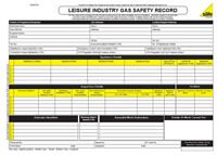 ENGINEER GAS SAFETY CHECK LEISURE BOAT INSPECTION CERTIFICATE PAD 50 SETS BOOK