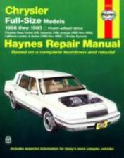 Haynes Manuals: Chrysler Full-Size Models, 1988-1993 by John Haynes, J. H....