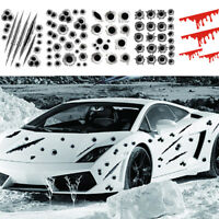 1x 3D Bullet Holes Car Sticker Scratch Decal Waterproof Motorcycle Stickers New