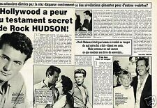 Coupure de Presse Clipping 1985 (2 pages) Rock Hudson