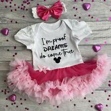 NEWBORN DISNEY TUTU ROMPER, Baby Girl's Mickey I'm Proof Dreams do come True