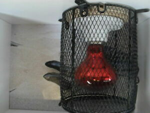 Reptile Wire Mesh Light Cage Round Large 130mm x 160mm  mm Snake Lizard Frog