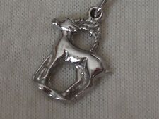 Sterling Silver Aries Pendant with silver chain