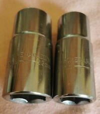 "CrVan 6 Point 1/2"" Drive reversible Sockets 21mm - 23mm, 17mm - 19mm."