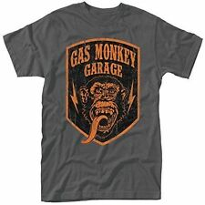Plastic Head Men's Gas Monkey Garage Shield T-shirt Grey Large