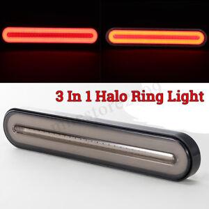 28 LED Flowing Reverse Stop Brake Turn Signal Rear Tail Light Truck Trailer RV !