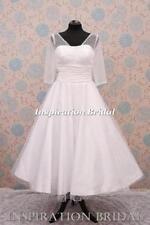 Satin V Neck Short Wedding Dresses