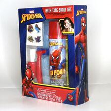 NEW Marvel Spider-Man Bath Time Shave Set Foam Play Razor Shave Brush Tatoos
