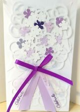 Wedding or Shower Card - Bouquet Cards  - Bride - Purple - Free shipping in US