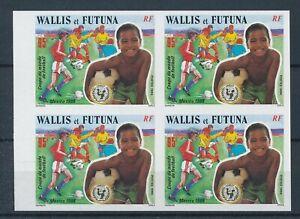 [332901] Wallis Fut 1986 soccer good very fine block of 4 MNH imperf. Stamp