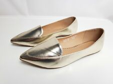 Sole Diva Gold UK 6E Ballerina Flats