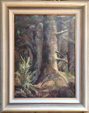 Hamm dans Forêt Noire Peinture à L'Huile Signé Popp 1922 Waldinneres Cadre Label