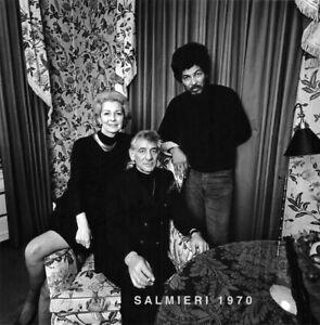 BERNSTEIN / BLACK PANTHER 1970 PHOTO B/W GELATIN SILVER VINTAGE PRINT SIGNED
