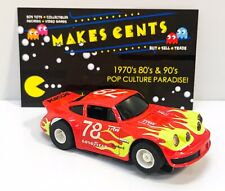 VINTAGE TYCO PORSCHE CARRERA RED YELLOW GOODYEAR FLAMES #78 Slot Car HO