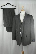 NWT David Chu Men's Brown Blend 2PC Suit Double Vent Blazer Jacket Sz 46R W41