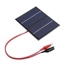 1.5W 12V Solar Module Flexible DIY Solar Panel Power Bank Battery Charger W/Clip