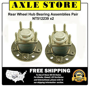 2 New Wheel Hub Bearing Assembly for Saturn L Series Rear Pair with Warranty
