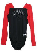 Gk Elite Black/Red Jeweled Gymnastics Leotard - Axs Adult Extra Small 3941